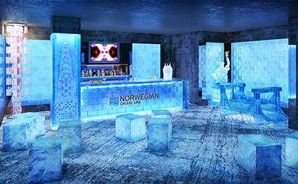 Norwegian cruise line to feature a new york themed ice bar for Warm getaways from nyc