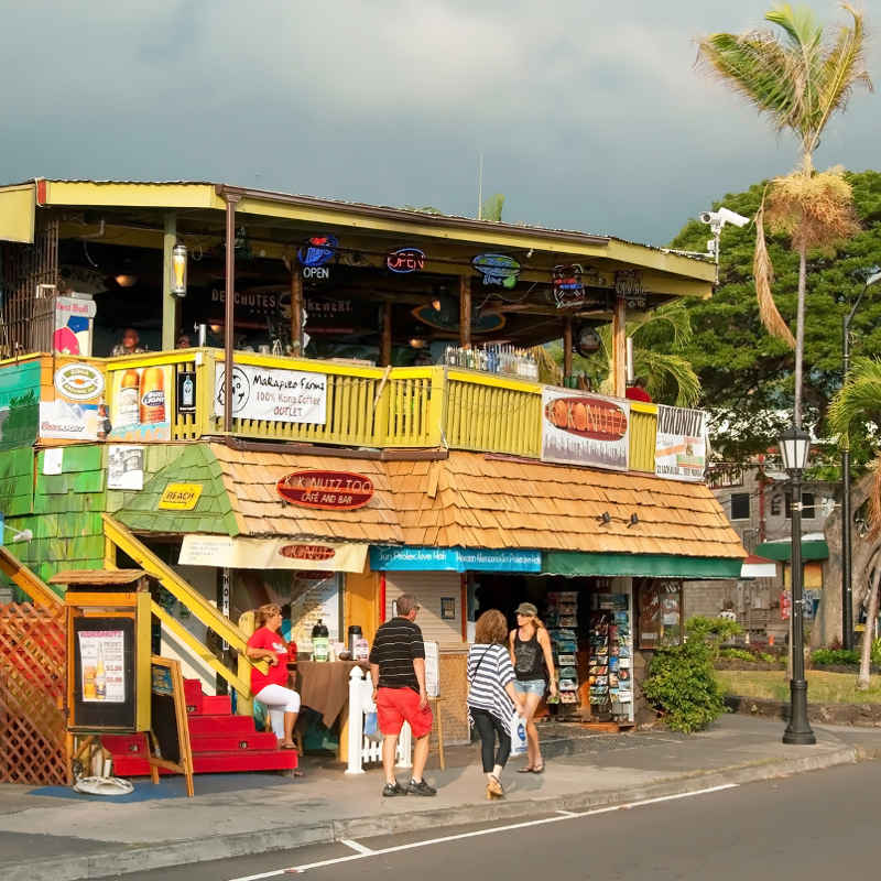 Hawaiian Big Island cafe