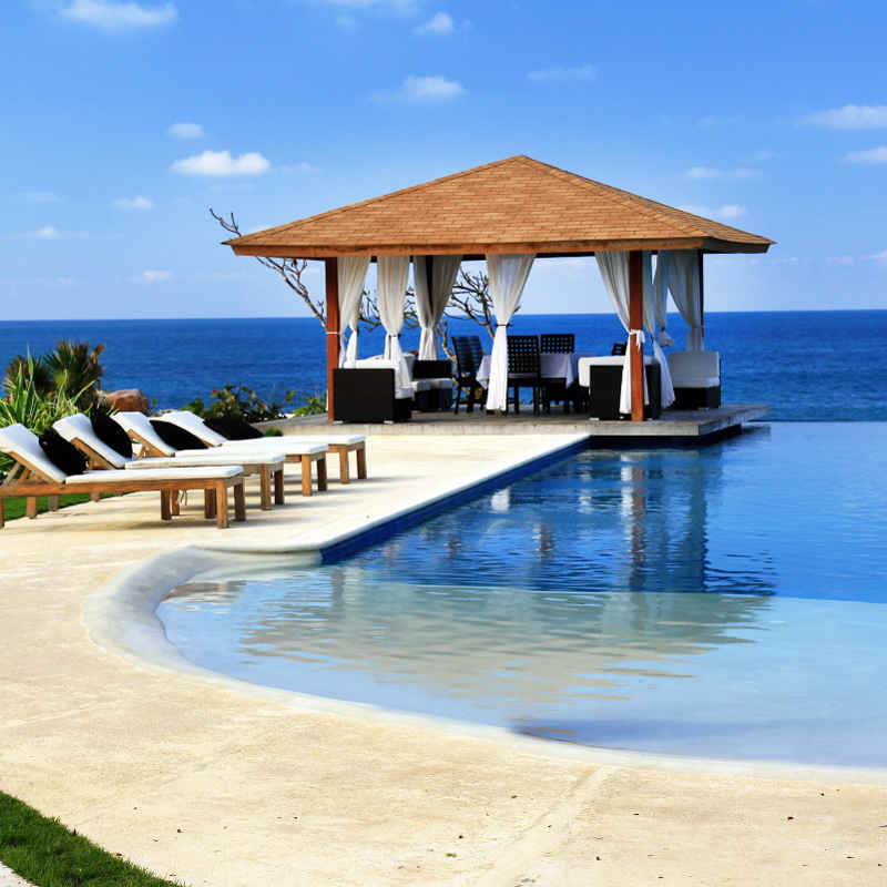 Jamaica famous luxury waterfront resort