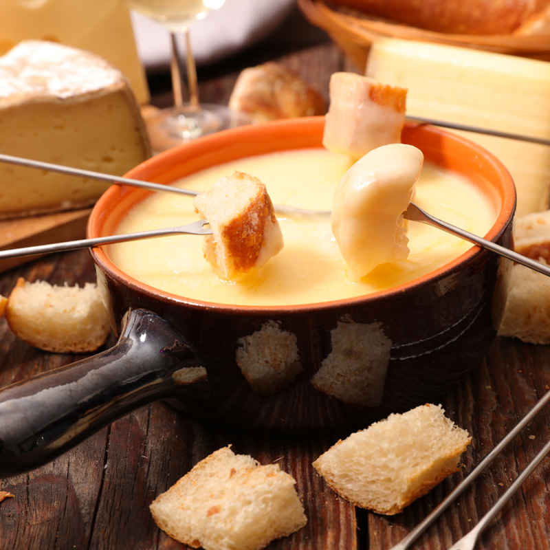 Switzerland famous fondue